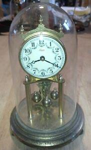 Vintage Kundo Germany Anniversary Dome Clock Kieninger & Obergfell