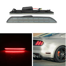 Rear Smoked Lense Red LED Bumper Side Marker Lights For 2015-19 Ford Mustang WO