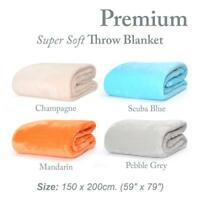 PREMIUM Throw BLANKET Snug Rug ™ Luxury Warm Soft Fleece Official 300gsm Sherpa
