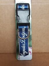New LA Dodgers Adjustable Nylon Dog Collar Size L
