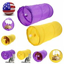 Pet Cat Puppy Dog Tubes Collapsible Crinkle Kitten Rabbit Play Funny Tunnels Toy