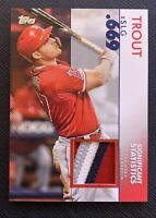 2020 Topps Series 2 Mike Trout Relic Patch 4-COLORS!! #SSR-MT2 16/25 SSP