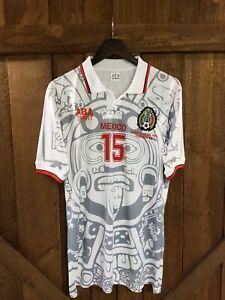 ABA Sport Mexico 1998 Luis El Matador  Hernandez #15 white Retro Jersey Size  L