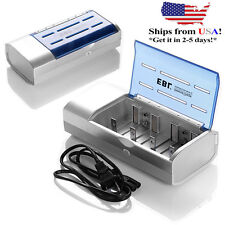EBL Universal Charger For AA AAA C D Size 9V Ni-MH Ni-CD Rechargeable Battery