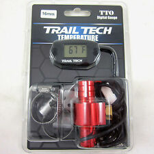 Trail Tech TTO Temperature Meter Digital Gauge 16mm In-Line Hose Sensor 742-EH4
