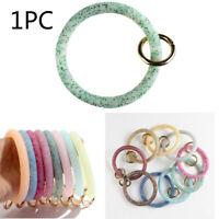 1PC Silicone Big O Wristlet Keychain Bracelet Bangle Keyring Key Chain Holder