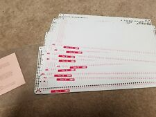 knitting machine Punch Cards Singer 360k or Silver Reed
