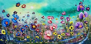 """""""Loved, Always"""" - Flowers in Love, a large oil painting on canvas, by Phil Broad"""
