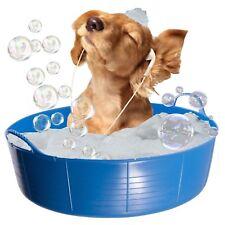 BLUE DOG BATH, DOG PADDLING POOL, DOGGY POOL, FLEXI SHALLOW 35L TUBTRUG PET