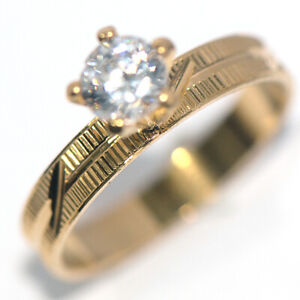 Gold Wedding Ring Fashion Rings Crystal CZ Ring for Womens Jewelry size 10