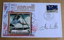 OLYMPIC GAMES BARCELONA CANOEING 1992 BENHAM COVER SIGNED BY GARETH MARRIOTT