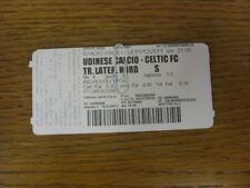 BIGLIETTO 15/12/2011: UDINESE CALCIO V Celtic [UEFA EUROPA LEAGUE] (completo). bobf