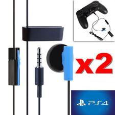 2 Pezzi Singolo Auricolari Con Microfono 3.5mm Jack per Sony PS4 - 1.2m Nero