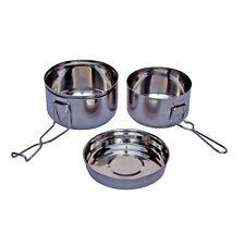 Yate Edelstahl Camping Kochset Basic 3-teilig für 1-2 Personen