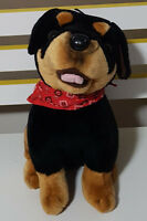 ROTTWEILER PUPPY DOG PLUSH TOY WITH TAG! SOFT TOY ABOUT 28CM SEATED SOFT TOY!