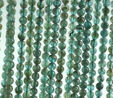 5MM AQUA BLUE APATITE GEMSTONE GREEN BLUE GRADE A ROUND LOOSE BEADS 16""