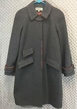 MICHAEL Michael Kors Womens 4 Long Coat Trench Acrylic Wool Shell Fully Lined