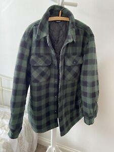 Green Black Tartan Shacket Lumberjack Jacket Size Xx Large Unisex Workwear