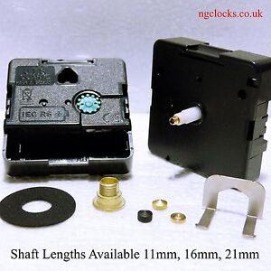 Quartz UTS high torque clock movement, mechanism complete with a battery