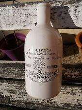 Ancienne bouteille d'huile à L'Olivier 500gr , huile de foie de morue , PARIS