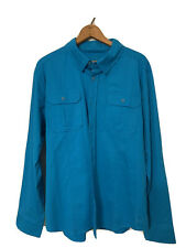 Reel Life Men's LS Beachcomber Shirt (Caribbean Sea, Large)