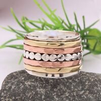 Valentine 925 Sterling Silver spinner ring, spinning ring stackable ring d33