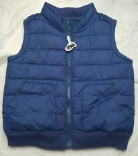 Gymboree LONDON LAD Blue Vest Car zipper pull sz 12-24 mos EUC BOYS