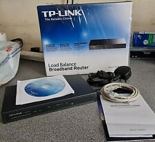 More details for tp_link load balance broadband router, model: tl-r470+, cables and power cord