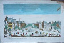 Francfort: Vue d'Optique représentant le Marché aux Chevaux sur le Mein/18éme