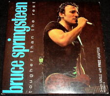 BRUCE SPRINGSTEEN..TOUGHER THAN THE REST..RARE 3 INCH CD EX 4 TRACKS + ADAPTER