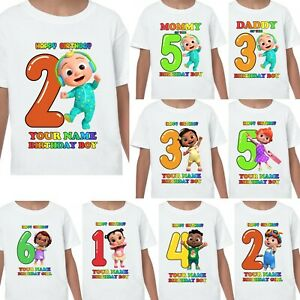 Cocomelon Personalised Name T-shirt Kids Birthdays Gifts Nursery Rhymes Johnny 2