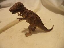 """Schleich Tyrannosaurus Rex Dinosaur,4"""" tall Brown T-Rex  Retired"""
