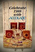 Vintage 1988 Accolade Games Software Product Catalog