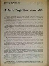 Profession de foi 1979 élection européenne Arlette Laguiller Lutte Ouvrière