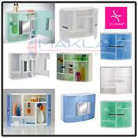Wall Mounted Double Door Bathroom Cabinet Medicine Cupboard Vanity Storage