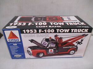 Gearbox Citgo 1953 F-100 Tow Truck Coin Bank 1/24