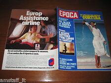 RIVISTA EPOCA 1980 N.1555=IDA DI BENEDETTO=CORTINA=LAMPADE TIFFANY=EMILIO FEDE