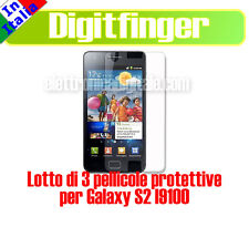 LOTE DE 3 PELÍCULAS SALVA PANTALLA LCD ANTI-GLARE PARA SAMSUNG I9100 GALAXY S2