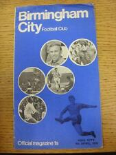 04/04/1970 Birmingham City v Hull City  (Creased/Torn At Top). This item is in v