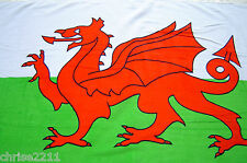 Wales/Welsh Dragon  Flag  Beach Towel   Soft 100% Cotton Velour White Green Red