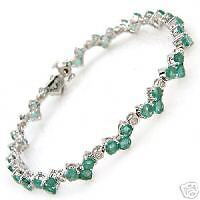 Fabulous Bracelet With 8.25ctw Precious Stones.