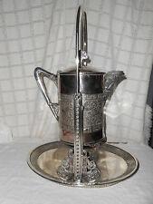 Meriden  silver tilting water, teapot dragonflies,hummingbirds design stunning!