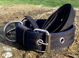 ST21  Padded Webbing Dog Collar & Lead Set Terrier/Lurcher/Gundog/Spaniel