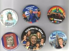 2016 pin HILLARY Clinton pinback Campaign button Collection of 6 DIFFERENT !!!