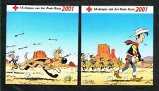 Belgique - Croix-Rouge - Lucky Luke - 2 Autocollants 2001.
