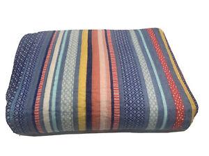 Pioneer Woman Reversible Barn Dance Quilt Comforter Cotton Stripe King