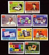Yemen Kgr 1969 ** Bl.575/84 B Marke auf marke stamp on stamp