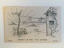 """Vintage Postcard - Eden Series """"Monday in the Old Garden"""""""