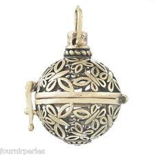 1 Pendentif Papillon Cage de Bali Bola Mexicain Pour Bille d'harmonie Bronze