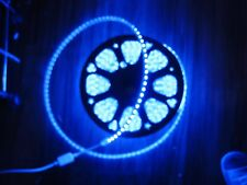 2M Blue  110V `120V 5050SMD Flexible Flat LED Strip Rope Light+US Plug